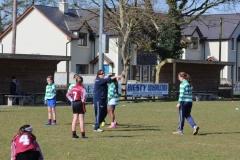 Girls Rugby coaching in Creggs, March, 2017