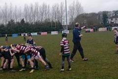 Creggs Under-12 team in action in the Connacht Blitz at Ballinasloe RFC - April 2018