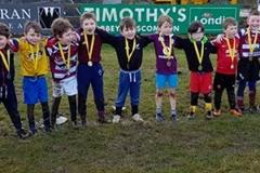 Creggs Under-7's group in Creggs one Saturday in 2017-18 Season