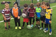 Part of the Creggs Rugby Under-7 playing group at Sligo RFC recently