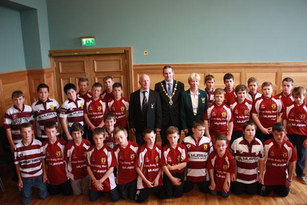 Creggs-U13's-meet-Mayor-of-Derry