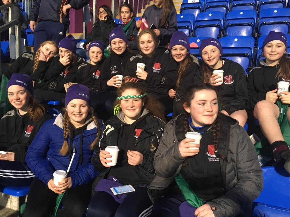 Creggs U14's & U16's Girls at Energia park, Donnybrook